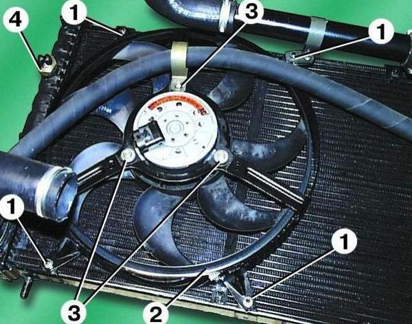 Замыкание контактов на вентиляторе печки