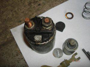 Втягивающее реле стартера - назначение проверка и ремонт