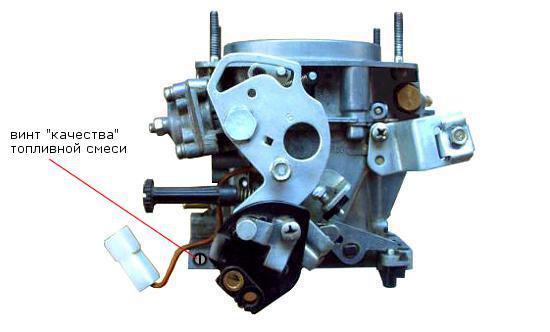 винт качества топливной смеси карбюратора 2108 Солекс