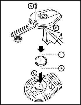 Замена элемента питания пульта Nissan Juke