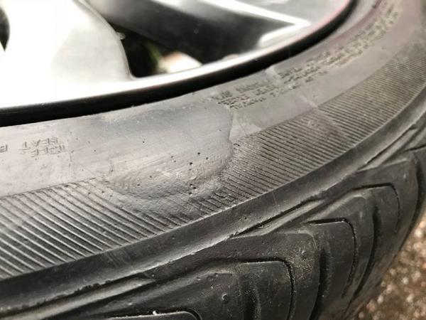 боковой порез шин