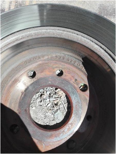 Демонтированный тормозной диск